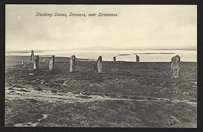 ORKNEYS postcard Standing Stones of Stenness, Nr. Stromness