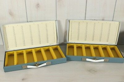Lot 2 Smith Victor 35mm Metal Slide Storage Case Container Tray 150 Slot Coins