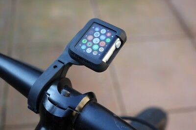 Velomounts Rugged Bike Mount for 38mm Apple Watch with 25.4mm Handlebar Adapter