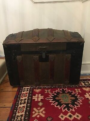 Dome Top Victorian Steamer Trunk Dating to 1870-1880