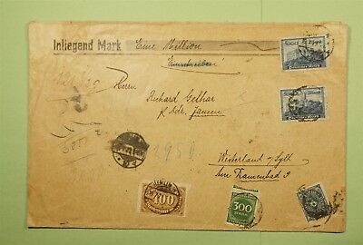 DR WHO 1923 GERMANY BERLIN TO WESTERLAND  Ld56706
