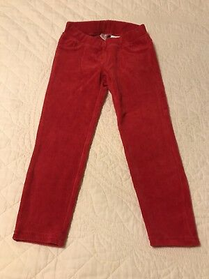 NWOT Hanna Andersson Ribbed Velour Leggings Pants Hanna Red Size 110 5 Holiday