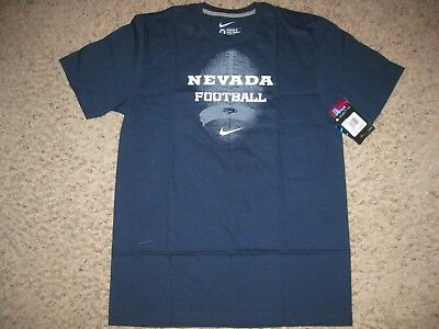 size 40 189dd f84d5 NWT NEW Nevada Wolfpack Nike Standard Fit Football T-Shirt M Navy Blue  College