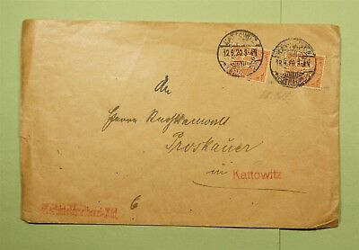 DR WHO 1920 GERMANY KATTOWITZ  d57176