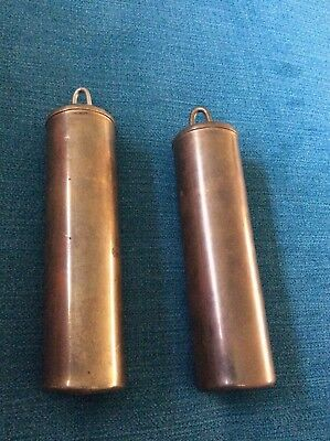 A Pair Lead Filled Replacement Regulator/postmans Clock Weights