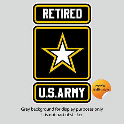 AR-2118  Army Logo Retired Military Car Bumper Sticker Vinyl Window Decal