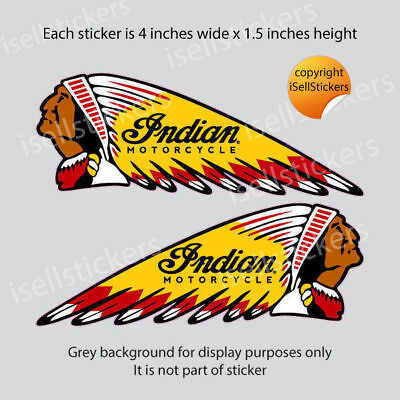 BM-12056 4 in Retro Dark Horse with Text Indian Motorcycle Helmet Sticker Decal