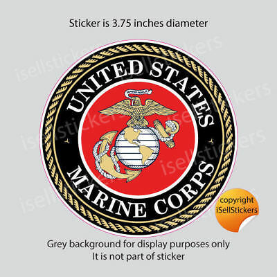 MA-3144 USMC US Marine Corps EGA Military Logo Bumper Sticker Window Decal