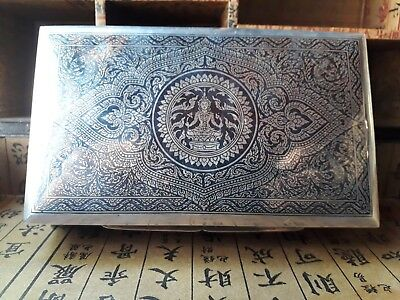 Antique sterling silver siam nielo box