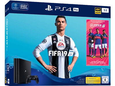 SONY Playstation 4 Pro 1TB Jet Black / EA Sports Fifa 19-Bundle