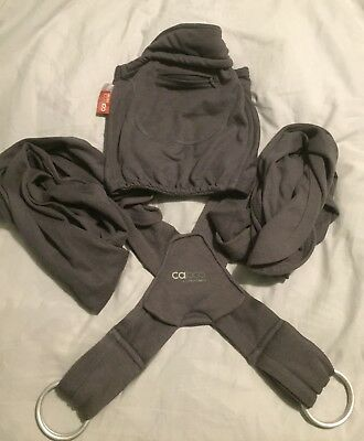 Close Caboo +Cotton Blend Baby Carrier Sling (Graphite Grey)