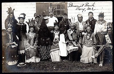 C.1905 Extended Family Of Passamaquoddy Indians ~ Pleasant Point Perry Maine