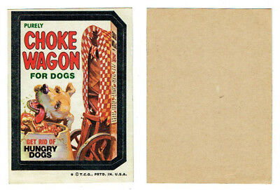 1973 Topps Wacky Packages Choke Wagon 4th Series Tan Back Sticker Card Vintage