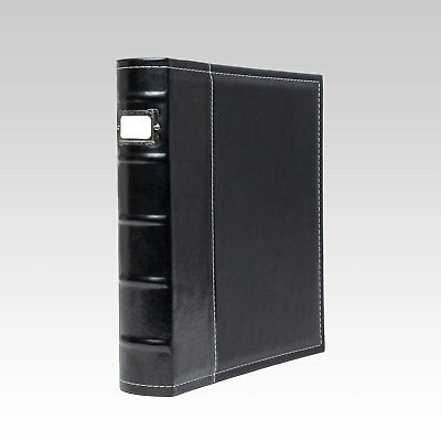 Bellagio-Italia 3-Ring Binder - stores up to 250 pages, Black