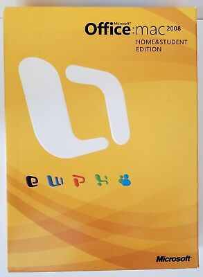 Microsoft Office Mac 2008 Home & Student Edition, Pre-owned w/ Code