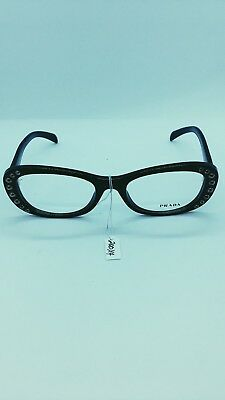 73795cb2fd7c Prada VPR 21R Optical Frame Women Authentic Stylish Black 1AB-101 Eyeglasses  RX