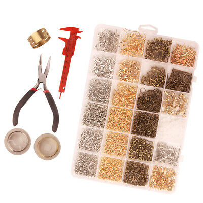 Jewelry Making Findings Supplies Kit with Jump Rings, Earing Hooks Backs Box
