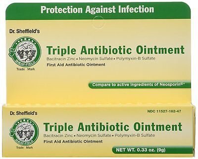 Dr Sheffield's Triple First Aid Antibiotic Ointment 0.33 oz (9 gr) UK Seller