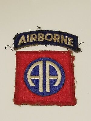 WWII US Army 82nd Airborne Greenback Patch