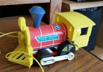 Vintage Fisher Price Toy Toot-Toot 643