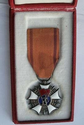 WW2 Polish Poland medal order of Labour banner 2nd class