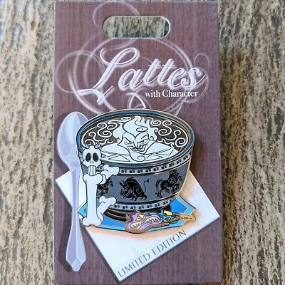 Hades Lattes with Character Pin 2018 Disney Hercules Pain Coffee Cup LE 3000