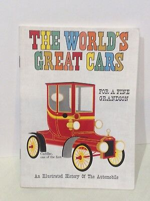 Worlds Great Cars 16 Cars Model T to Futuristic Cars -Card from Grandpa