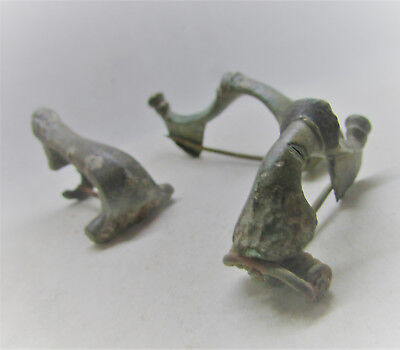 Wonderful Group Of 3 Ancient Roman Imperial Fibula Brooches Authentic.