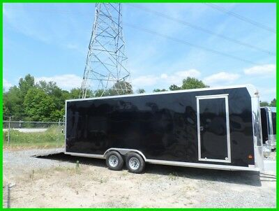8.5x24 Black cargo enclosed car toy hauler motorcycle Aluminum trailer aluma New