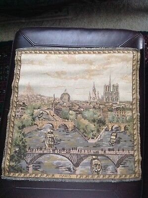 Vintage French Tapestry of Paris