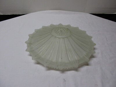 Vintage Ceiling Light Lamp Shade - Frosted Glass Starburst Pattern 14 1/2""
