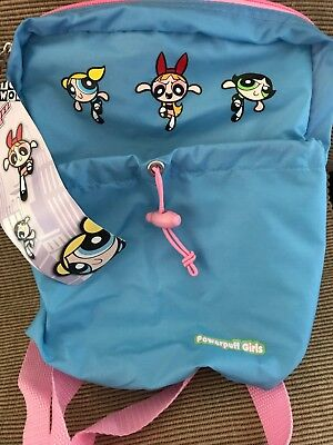 "New 2000 Cartoon Network Powerpuff Girls Mini Nylon Backpack 8"" x 10"" x 4"" RARE"