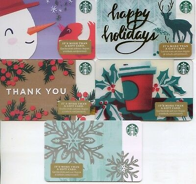 SET of 5 NEWEST CORPORATE #6157 STARBUCKS 2018 HOLIDAY CARDS  NOT IN  STORES