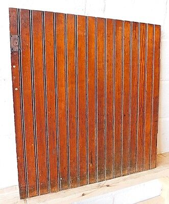 Antique 1800's Wooden BEADBOARD DOOR Pantry / Closet VICTORIAN Style Fir ORNATE