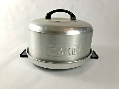 Vintage 1950's KROMEX Aluminum CAKE CARRIER TRAY with COVER