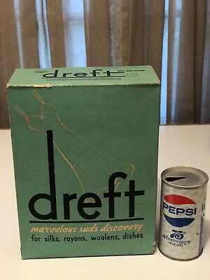 Vintage ORIGINAL Unopened 1940s DREFT Laundry Detergent ~ ITS LIKE 78Yrs OLD!!!