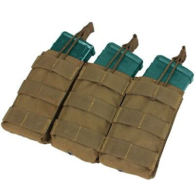 Condor Triple 30 Round Rifle MOLLE Open-Top Mag Magazine Pouch Coyote Brown