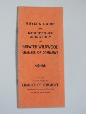 1950's Greater Wildwood Chamber of Commerce Buyers Guide & Member Directory