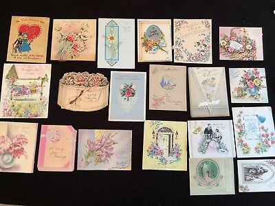 A  Lot Of 20 Rare Antique To Vintage Greeting Cards #8 MIXED LOT COLLECTION