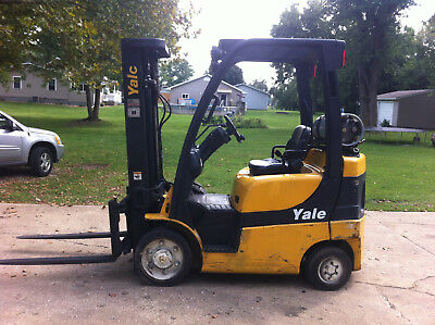2011 Yale GLC050 5000# Forklift LPG, LOTS OF NEW PARTS, FORKS