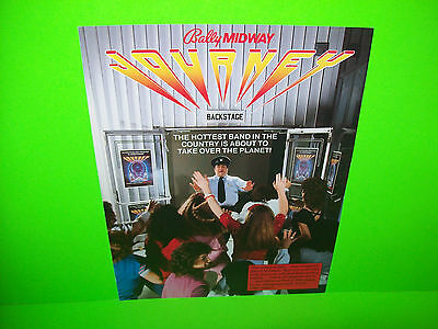 Midway JOURNEY 1983 Original NOS Video Arcade Game FLYER Rock And Roll Theme
