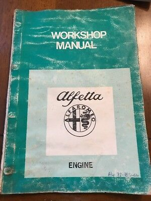 Alfa Romeo Alfetta Engine Workshop Manual April 1977 #2448