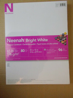 Neenah Bright White Cardstock 80 sheets NIP