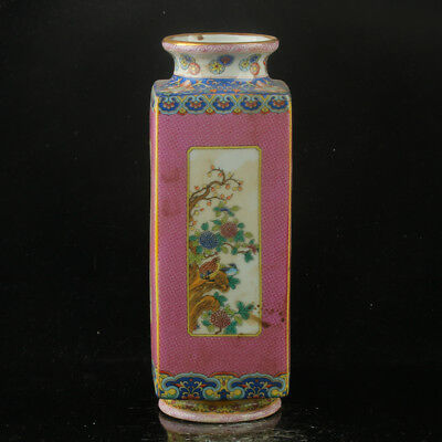 Chinese Enamel Porcelain Hand Painted  Vase Made During The Kangxi Period  RF012