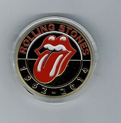 Rolling Stones Gold Plated Coin Sealed In Capsule