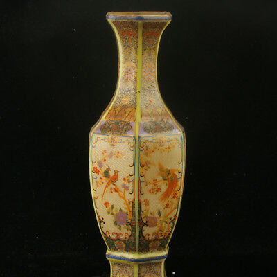 Chinese Enamel Porcelain Hand Painted  Vase Made During The Kangxi Period RF009#