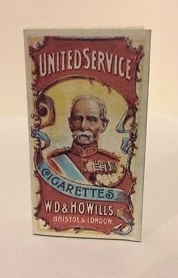 """WW1 - W.D. & H.O. Wills - """"United Service"""" -Cigarette Pack & Card - Reproduction"""