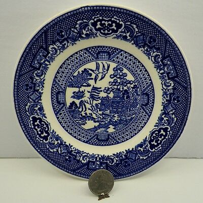 """Bread / Dessert Plate Blue Willow by Royal China Willow Ware 6 5/16"""" Vintage"""