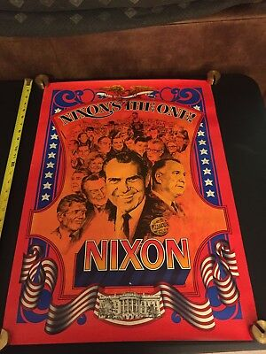 Classic Graphic 1968 Richard NIXON'S THE ONE Youth Campaign Poster Presidential