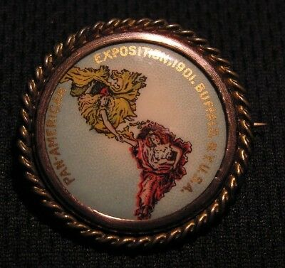 1901 PAN AMERICAN EXPO EXPOSITION PIN BROOCH - BUFFALO NY - Worlds Fair - NICE!